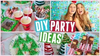 DIY Christmas Party! Holiday Treats, Decor & Outfit Ideas!