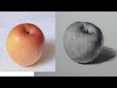 [Basic Drawing ] How to Draw Fruits -Apple