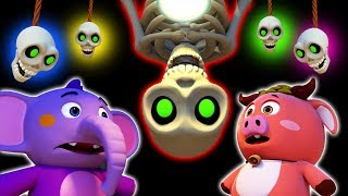 CHUMBALA CACHUMBALA | Skeleton Song | Halloween Songs For Kids | Nursery Rhymes | All Babies Channel thumbnail