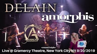 Delain Amorphis & Anneke LIVE @ SOLD OUT Gramercy New York City 2019 *cramx3 concert experience*