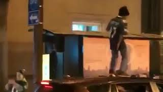 Young Eagles Fan Dances on Car Roof After Super Bowl Victory