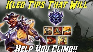 KLED TIPS THAT WILL HELP YOU CLIMB! Kled Guide League of Legends Season 9 2019