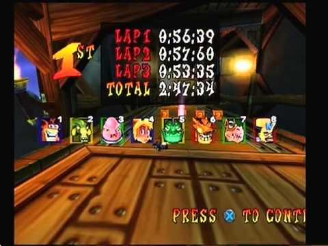 Crash Nitro Kart SPEED RUN in 1:11:13 by PeteThePlayer - SDA (2011) PS2 Gameplay