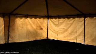 Das Geräusch von Regen auf einem Zelt [9 Stunden] | Entspannungmusik & Klangtherapie ◄◄◄