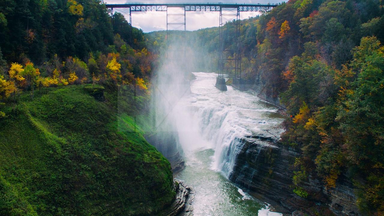 New York Fall Wallpaper Letchworth State Park Dji Phantom 3 October 2015 Youtube