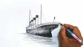 How to Draw the Titanic(Learn how to draw the Titanic in this step by step drawing tutorial., 2016-02-18T18:31:27.000Z)
