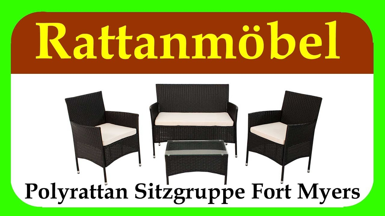 polyrattan sitzgruppe fort myers gartenmoebel set rattan guenstig f r balkon terrasse und. Black Bedroom Furniture Sets. Home Design Ideas