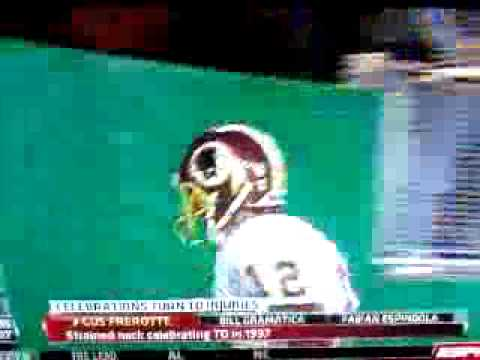 Gus Frerotte Headbutts Wall