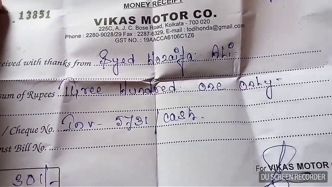 First service cost/X blade/Todi Honda/kolkata /review/Rs 301 only