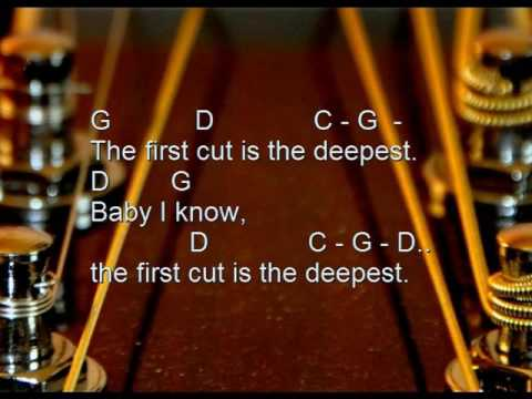 The first cut is the deepest (Cover, Karaoke, acoustic, lyrics ...