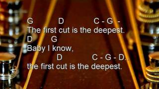 The first cut is the deepest (Cover, Karaoke, acoustic, lyrics, chords, no vocals)