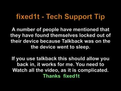 Fixing The Samsung Android Talkback Power Off Lockout