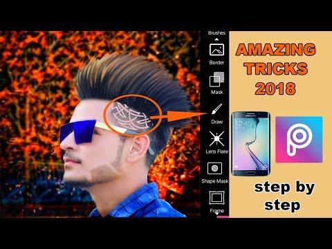 new trick for hair design in picsart new look background change  and latest editing