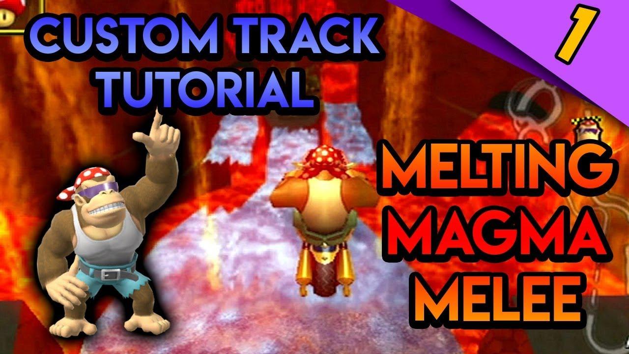 Mario Kart Wii Custom Tracks Melting Magma Melee Track Tutorial