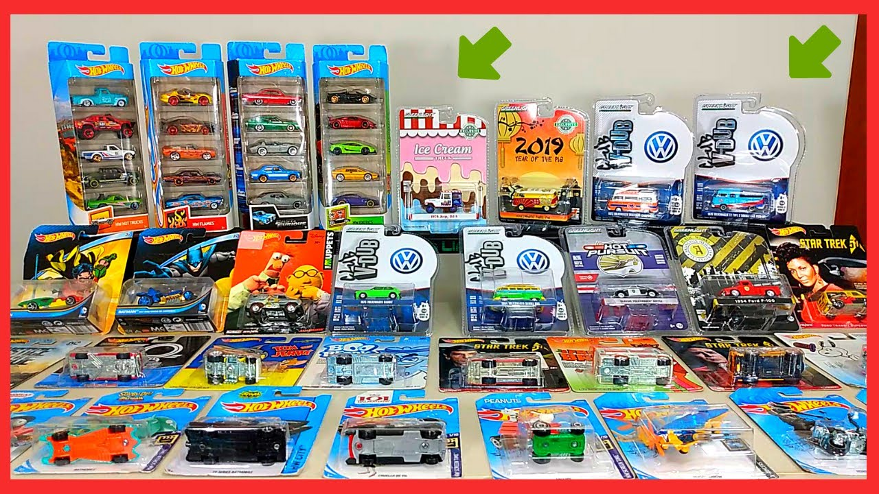 Coleção Hotwheels e Greenlight Volkswagen Escala 1/64 Kombi,Fusca   Pack Hotwheels