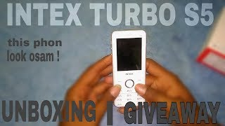 INTEX TURBO S5 | UNBOXING & GIVEAWAY |
