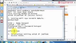 cara setting modem tp link td 8151nd untuk dijadikan ap access point