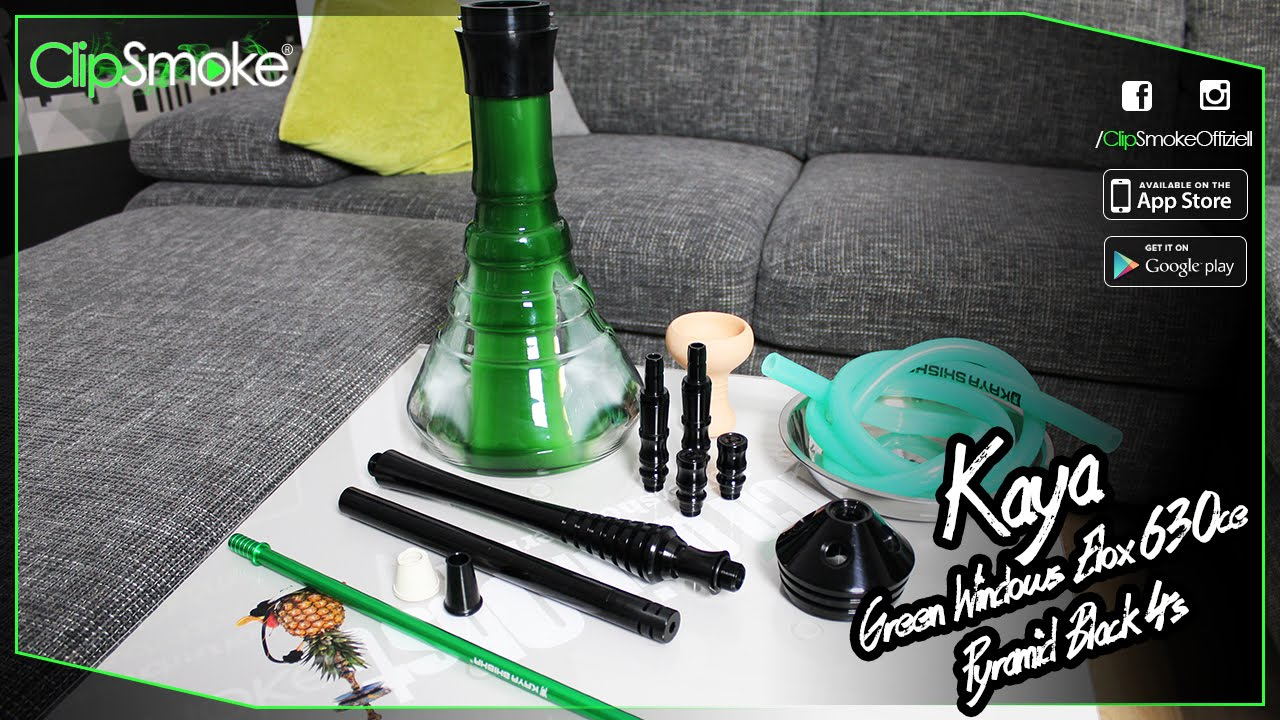 ClipSmoke - Kaya - Green Windows ELOX 630CE Pyramid Black 4s