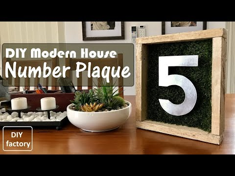 DIY - MODERN HOUSE NUMBER PLAQUE