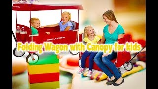 Folding Wagon with Canopy for kids and cargo - (FANTASTIC! Wagon)