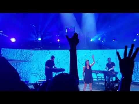 Odesza & Naomi Wild at Red Rocks 2018 performing their hit single