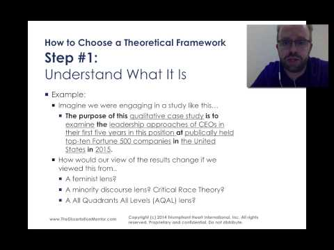 How to Choose a Theoretical Framework for My Dissertation