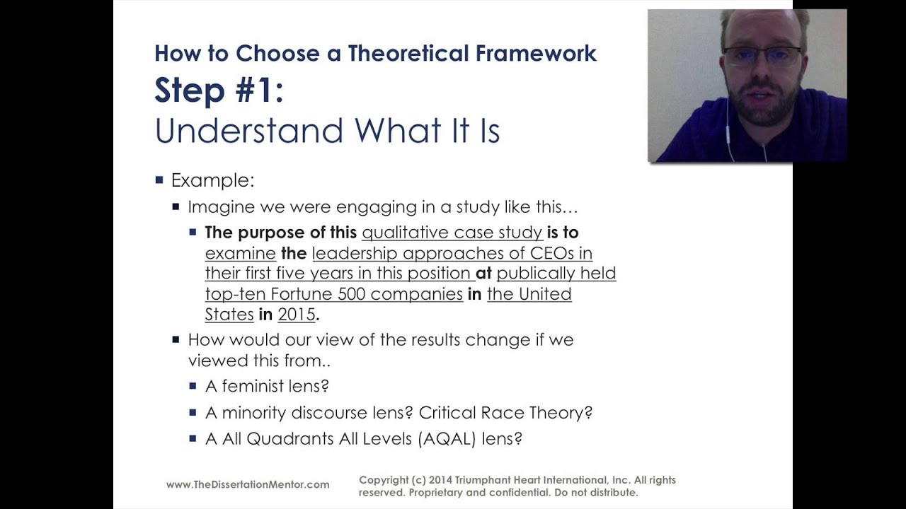 How To Choose A Theoretical Framework For My Dissertation YouTube