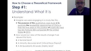 How to Choose a Theoretical Framework for My Dissertation(, 2014-10-01T01:20:01.000Z)