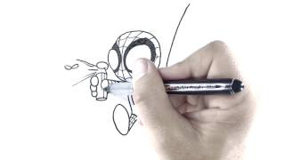How to Draw: Spiderman fighting a Fly
