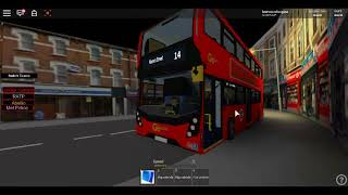 Roblox London and Putney V3. E400 MMC Hybrid Go Ahead London on Route 14