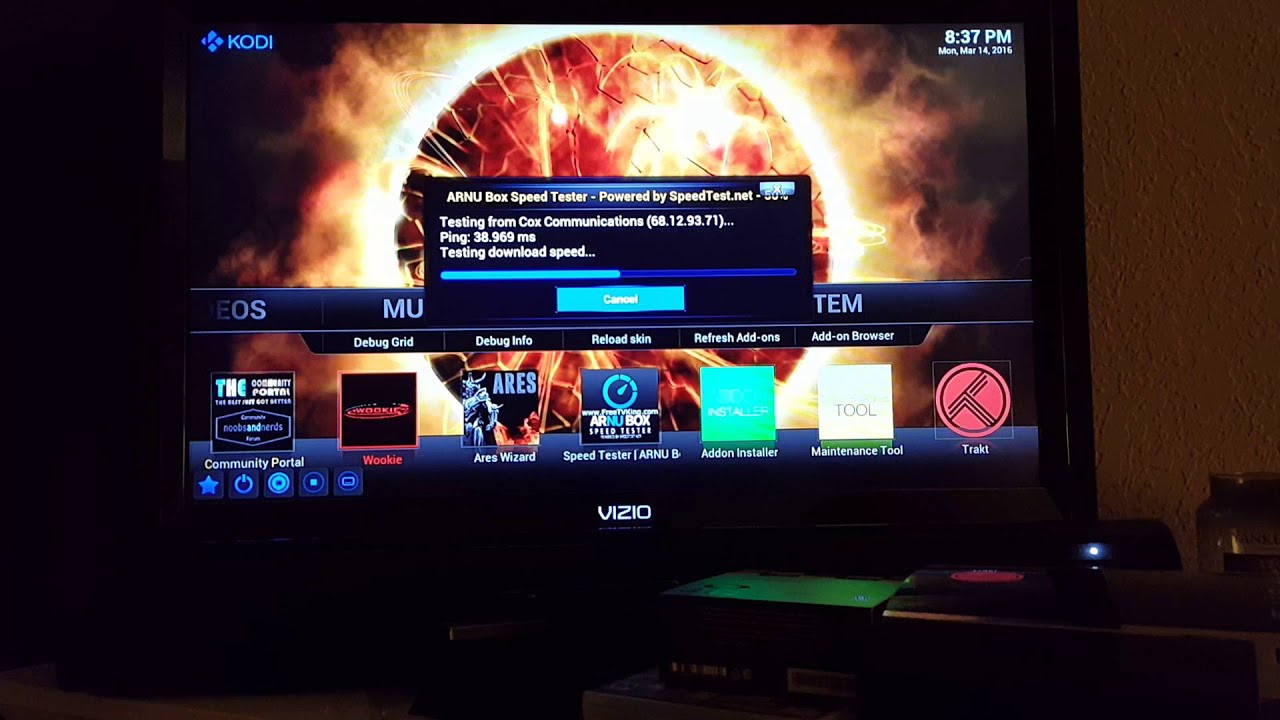 Speed test the Internet connection on your Firestick
