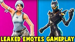 NEUE SECRET *LEAKED * EMOTES GAMEPLAY! (neue Fortnite-Artikel-Shop-Kosmetik)