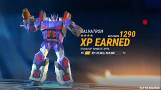 Transformers Earth Wars- Guide to leveling up your cons