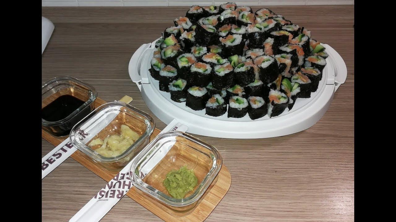 sushi maki selber machen sushi torte youtube. Black Bedroom Furniture Sets. Home Design Ideas