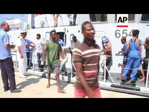 Libya coast guard returns rescued migrants to Tripoli
