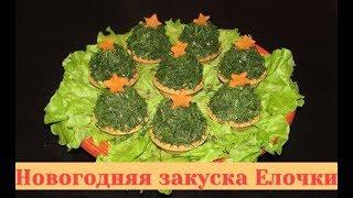 Новогодняя закуска в тарталетках Елочки. Начинка для тарталеток - вкуснейшая!