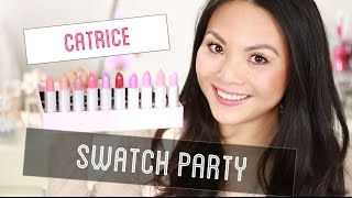 CATRICE LUMINOUS LIPS LIPSTICKS SWATCH PARTY | Mamiseelen Thumbnail