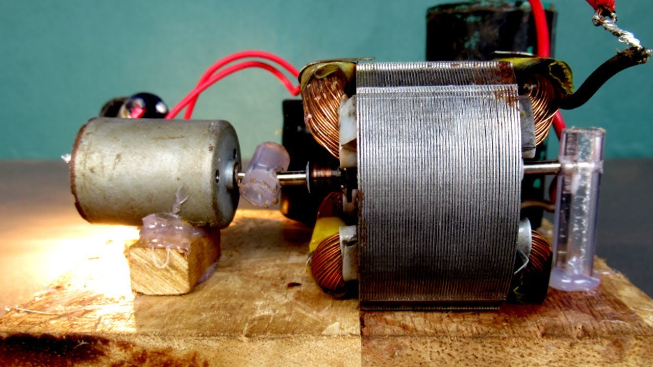 Homemade Free energy 220V electric DC motor generator - DIY experiment project work 100%