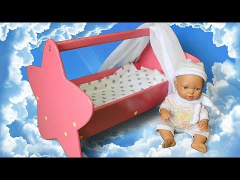 Кровать для кукол. Сделай сам.   Подарок дочке на 1.5 года. DIY