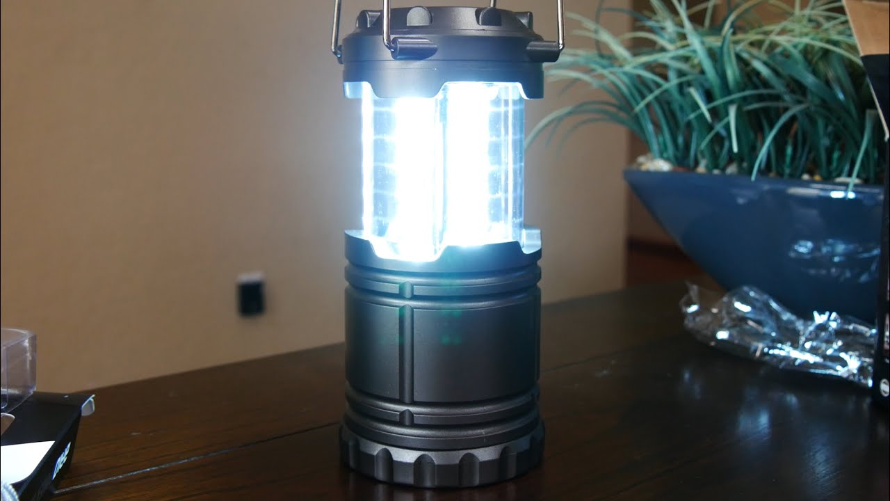 ultra bright led light camping lantern unboxing and review doovi. Black Bedroom Furniture Sets. Home Design Ideas