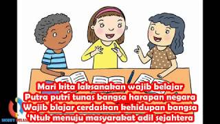 Lirik dan Lagu Tematik Wajib Belajar | Kelas 2 Tema 1 Subtema 2