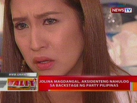 BT: Jolina Magdangal, aksidenteng nahulog sa backstage ng Party Pilipinas