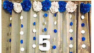 BIRTHDAY DECORATION IDEAS | PARTY DECORATION | EASY BIRTHDAY DECORATION AT HOME | DECORATION CRAFT
