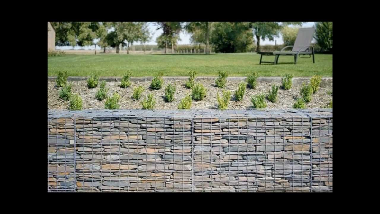 Gabion1 Retaining Wall Ideas Uk Youtube