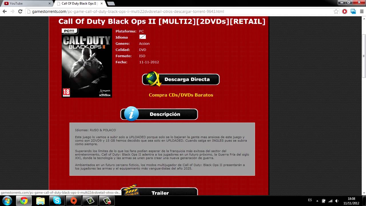 Como Descargar Call Of Duty Black Ops 2 Para Pc Ps3 Xbox360 Real Gratis Youtube
