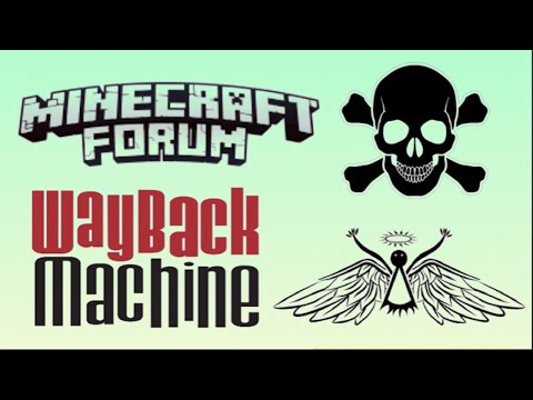 Recover Files And Posts From The Minecraft Forum On The Wayback Machine At Archive.org