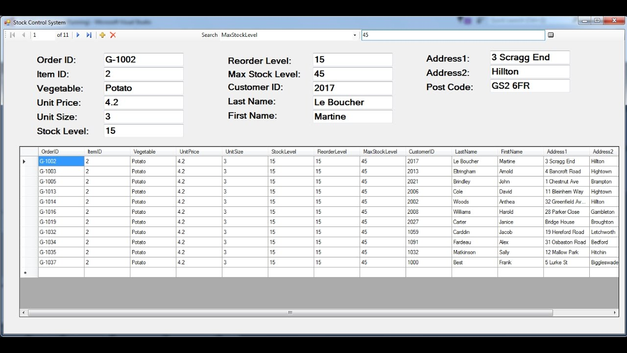 How to Create Stock Control System in C#