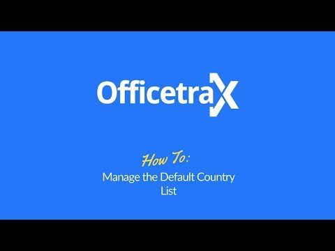 How to Manage the Default Currency List in Officetrax