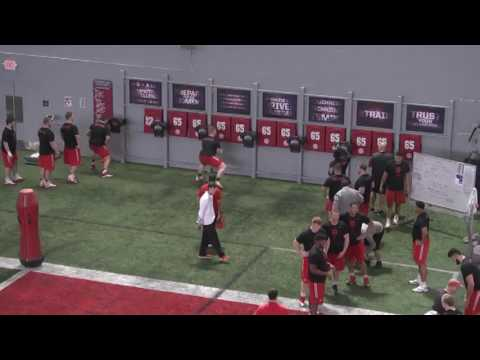 The Ohio State University Football Offensive Line Working Quick Hands with The Difference