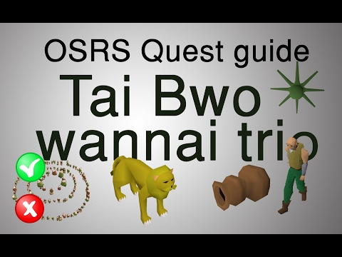 [OSRS] 2017 Tai Bwo Wannai Trio Quest Guide (both W/ And W/out Fairy Rings)